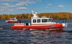 Картинка осень, катер, boat, RIB, Лидер 11, Lider 10, Lider 11, Лидер 10