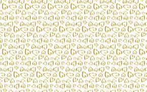Картинка золото, текстура, сердечки, белый фон