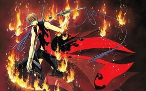 Картинка аниме, арт, парень, Tsubasa Reservoir Chronicles