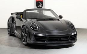 Обои 911, Porsche, GTR, Turbo, 2018, Cabriolet, TopCar, Carbon Edition, Stinger