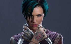 Обои Три икса: Мировое господство, боевик, ножи, Ruby Rose, девушка, прическа, макияж, фильм, xXx: Return of ...