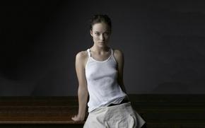 Картинка Olivia Wilde, beauty, look, actress, a-shirt, wifebeater