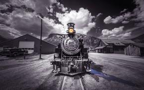 Обои поезд, паровоз, железная дорога