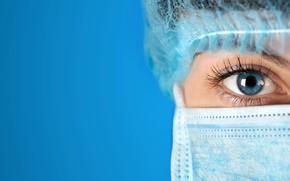 Картинка woman, medicine, blue eye, nursing