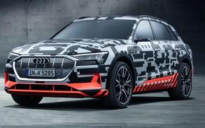 Обои электромобиль, Audi, E-Tron, Prototype, 2018