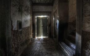 Картинка фон, дверь, лестница