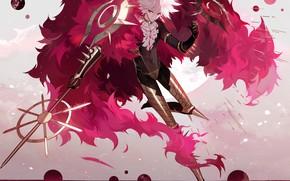 Картинка аниме, арт, парень, Fate/Grand Order, Red Lancer