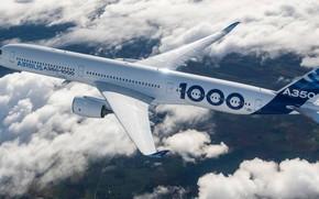 Обои Airbus, Аэробус, А350, A350