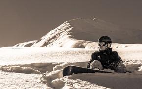 Картинка Природа, Горы, Снег, Сноуборд, Фрирайд, Сноубординг