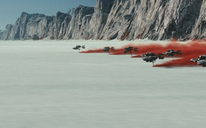 Обои Star Wars: The Last Jedi, film, race, Star Wars, smoke, fast, movie, speed, new planet, ...