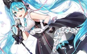 Картинка девушка, платье, арт, vocaloid, hatsune miku