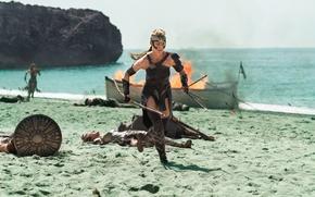 Обои strong, shield, Antiope, blonde, soldier, blade, Robin Wright, DC Comics, gauntlet, man, warrior, cinema, film, ...