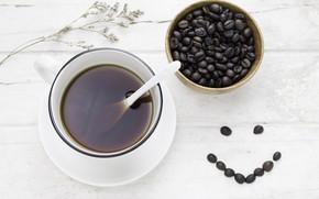 Картинка Кофе, напиток, кофейные зерна