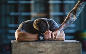 Обои crossfit, tiredness, Tattoos, fatigue