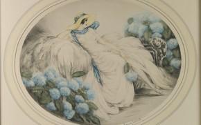 Картинка шляпа, 1929, Гортензия, Louis Icart