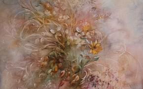 Картинка цветы, Натюрморт, Сфумато, сувенирная живопись, Петренко Светлана