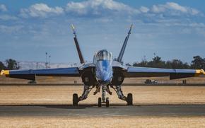 Картинка истребитель, аэродром, Blue Angels