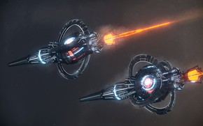 Картинка космос, звёзды, аппарат, jumpship, class arrow