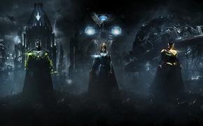 Обои Batman, Superman, Supergirl, Warner Bros. Interactive Entertainment, NetherRealm Studios, Injustice 2
