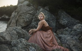 Картинка камни, платье, губки, Aleah Michele