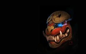 Картинка арт, fantasy, art, Александра Хитрова, GaudiBuendia, японская маска тигра