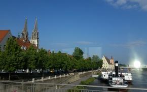Картинка мост, Дунай, Regensburg