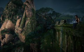 Картинка Nature, Uncharted, Statue, Chloe Frazer, Uncharted: The Lost Legacy