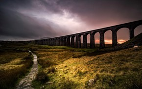 Картинка England, United Kingdom, Chapel le Dale, Ribblehead Viaduct