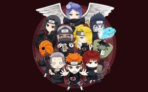 Картинка Naruto, anime, angel, Itachi, shark, ninja, Akatsuki, shinobi, Deidara, Sasori, japanese, Konan, Nagato, Naruto Shippuden, …