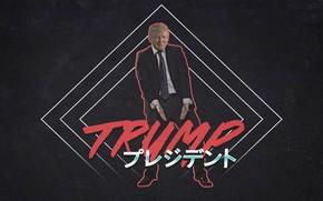 Картинка Музыка, Electronic, Synthpop, Darkwave, Synth, Дональд Трамп, Retrowave, Синти-поп, Synthwave, Synth pop, JohnLeePee, Donald Tramp, …