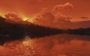 Картинка пейзаж, вечер, The Witcher 3, Blood & Wine