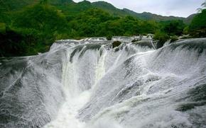 Картинка горы, водопад, Китай, провинция Гуйчжоу, Аньшунь, Водопад Хуангошу, Huangguoshu Waterfall