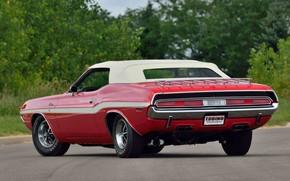 Картинка Dodge, Red, 1970, Convertible, Challanger