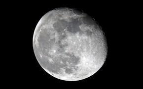 Картинка поверхность, луна, спутник