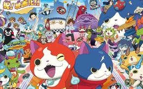 Картинка kawaii, game, neko, anime, youkai, japonese, Yo-kai Watch, kodomo