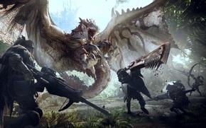 Картинка sword, gun, game, weapon, wings, predator, ken, blade, fang, bow, rifle, hunter, Monster Hunter, arrow, …