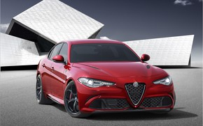 Обои Car, Sport, Red, Giulia, Alfa, Alfa Romeo, Italian