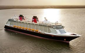 Картинка Море, Лайнер, Судно, Disney, Пассажирский, Dream, Пассажирский лайнер, Disney Dream, Disney Cruise Line