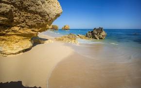 Картинка песок, скалы, берег