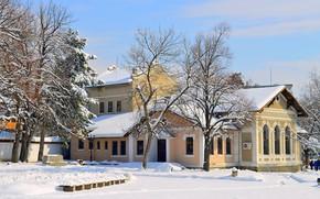 Картинка Зима, Снег, House, Архитектура, Winter, Snow, Architecture