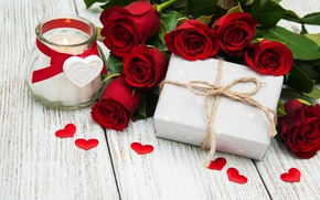 Обои розы, red, love, бутоны, heart, flowers, romantic, gift, roses, красные розы, valentine`s day
