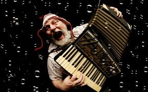 Картинка музыка, человек, аккордеон