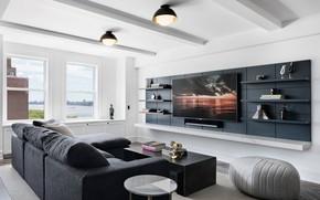 Картинка комната, интерьер, гостиная, Hudson River Park