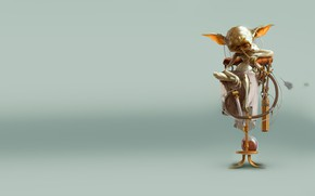 Картинка фантастика, арт, Bjorn Hurri, Steampunk Starwars - Yoda