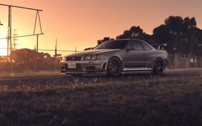 Обои Nissan, Car, Front, Skyline, Sport, R34