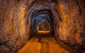 Картинка tunnel, Rocks, rail