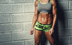 Обои abs, workout, female, pose, fitness