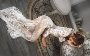 Картинка поза, ковёр, платье, на полу, Анастасия, Alexander Drobkov-Light