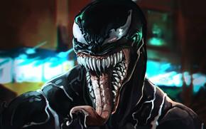 Картинка Рисунок, Язык, Зубы, Глаза, Кино, Арт, Sony, Art, Фильм, Marvel, Eyes, Comics, Веном, Venom, Симбиот, ...