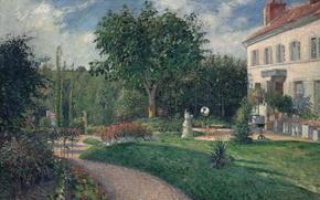 Картинка пейзаж, картина, Камиль Писсарро, Парк в Матурен